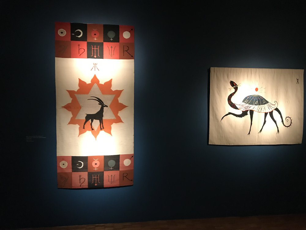 Two tapestries by Leonora Carrington.