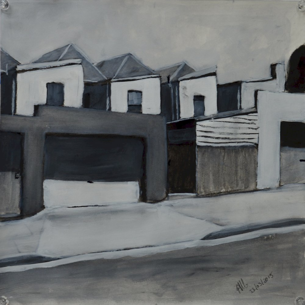 Sketch for Garages, Petersham