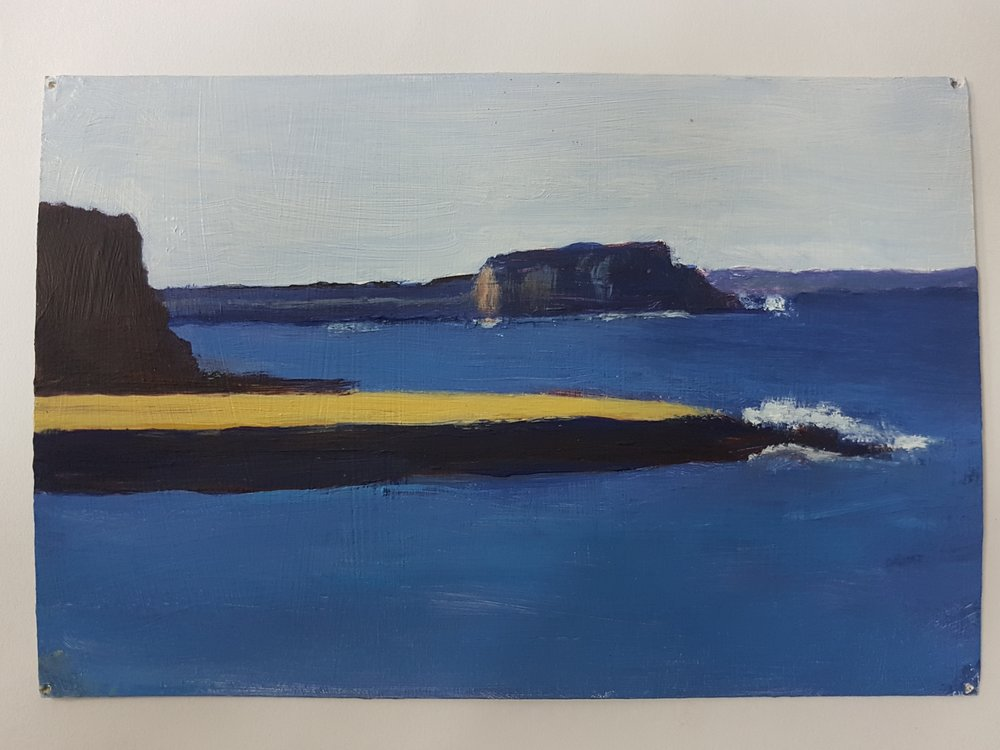 SOLD 2018-025 Sketch for Kiama (View to Bombo Headland)