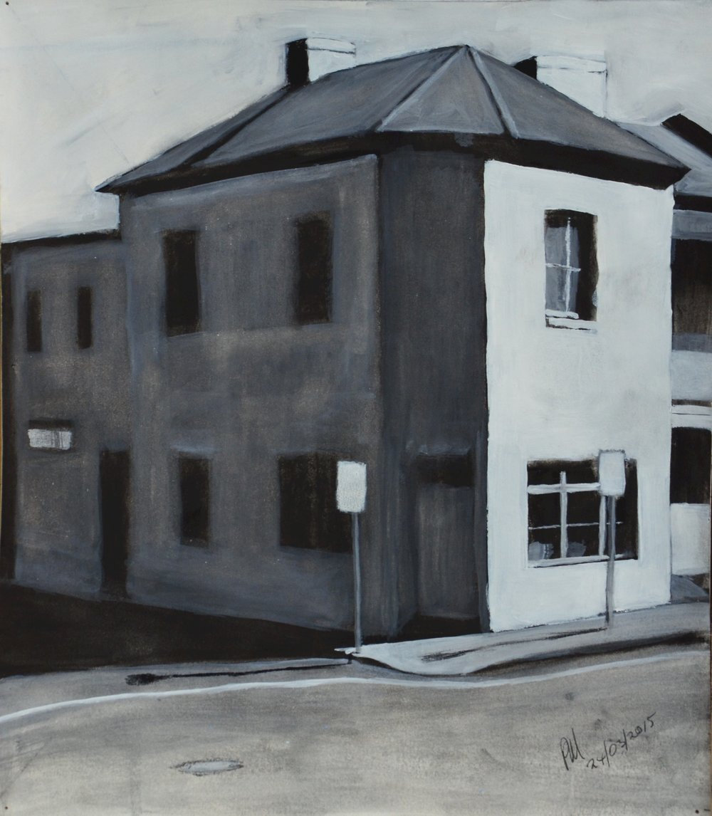 SOLD 2015-027 Sketch for Blue Corner, Enmore