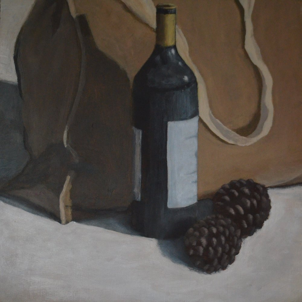 SOLD 2014-008 Still Life with Pine Cones