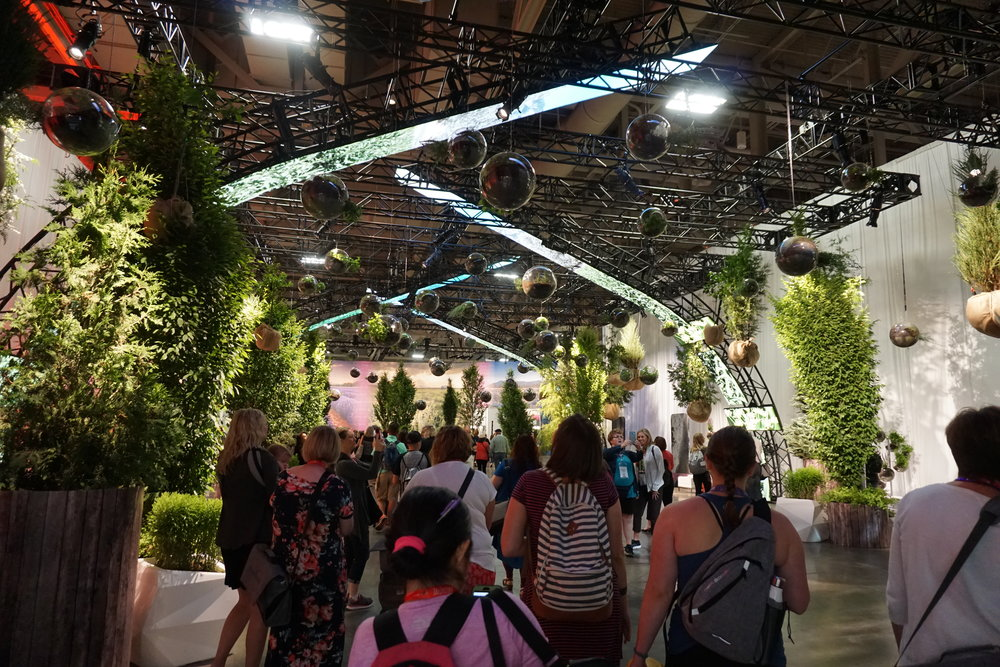 Pictures cannot do justice the feeling of walking into the Expo for the first time. It was designed so beautifully and all the plants were real and potted!