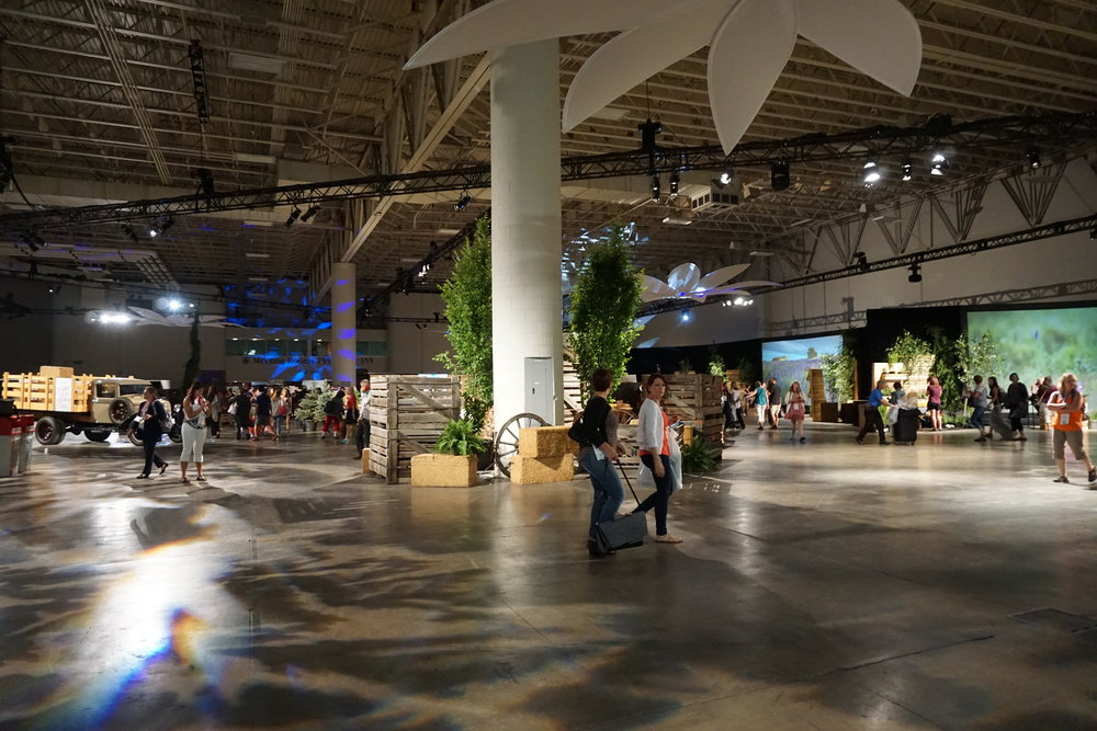 The Expo is super spacious and has a bunch of informational booths, some including education about their farms around the world.