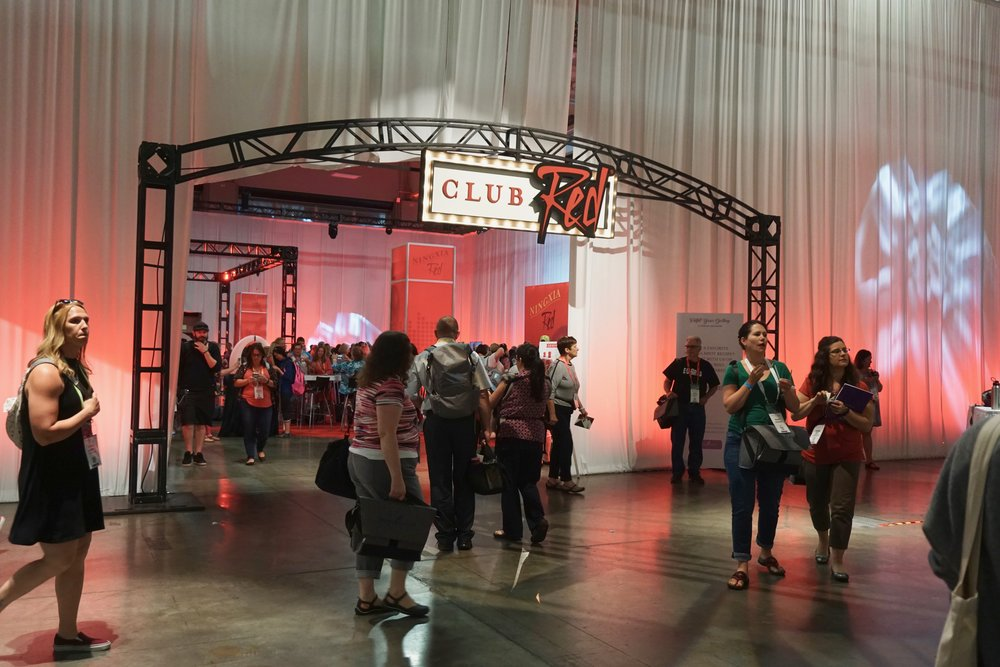 """One of the highlights of the Expo is Club Red! This year, in addition to the Ningxia bar where you could order Ningxia shots/pouches or the """"Bird Bomb"""", Nitro, Zyng, Ningxia slushies, they also had swings and a DJ!"""