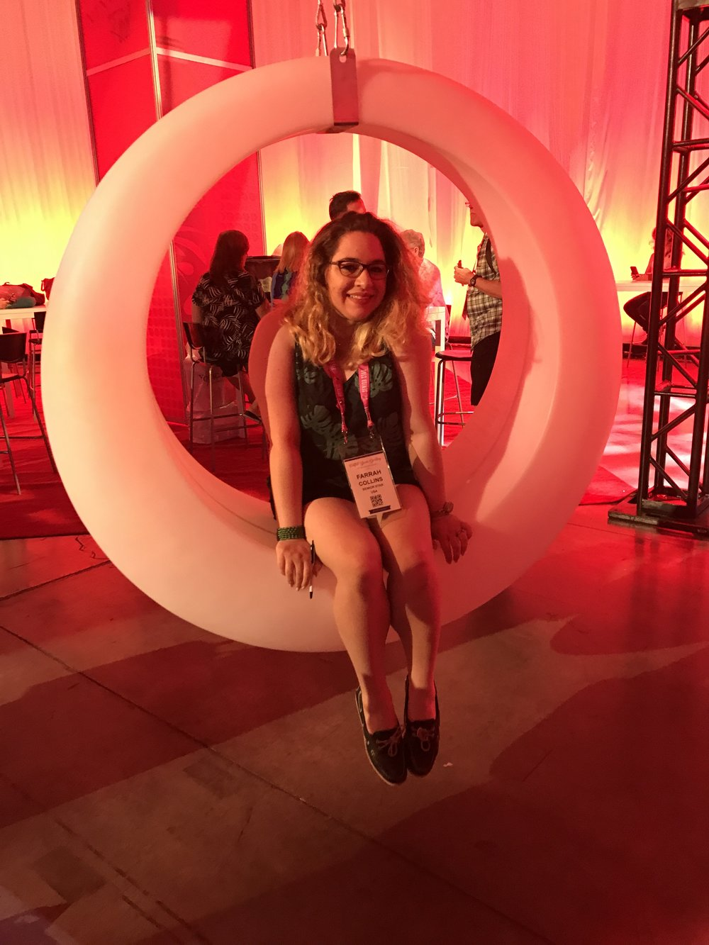 How cool are these swings in Club Red?? Super fun, too!