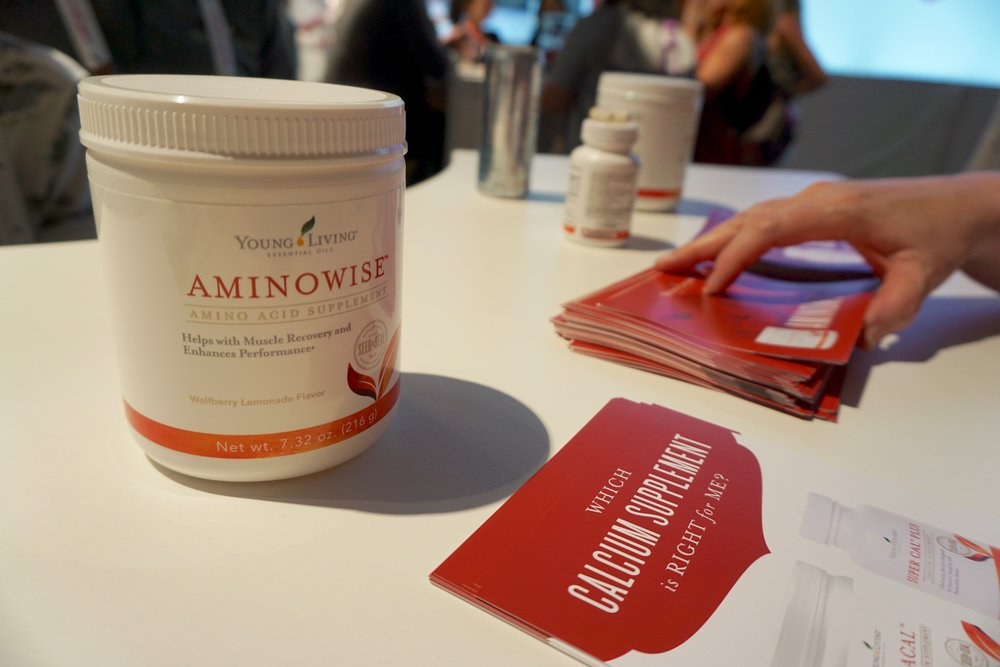 There was also a section to check out all the YL supplements, including the new Aminowise! I can't wait to try this during a workout!