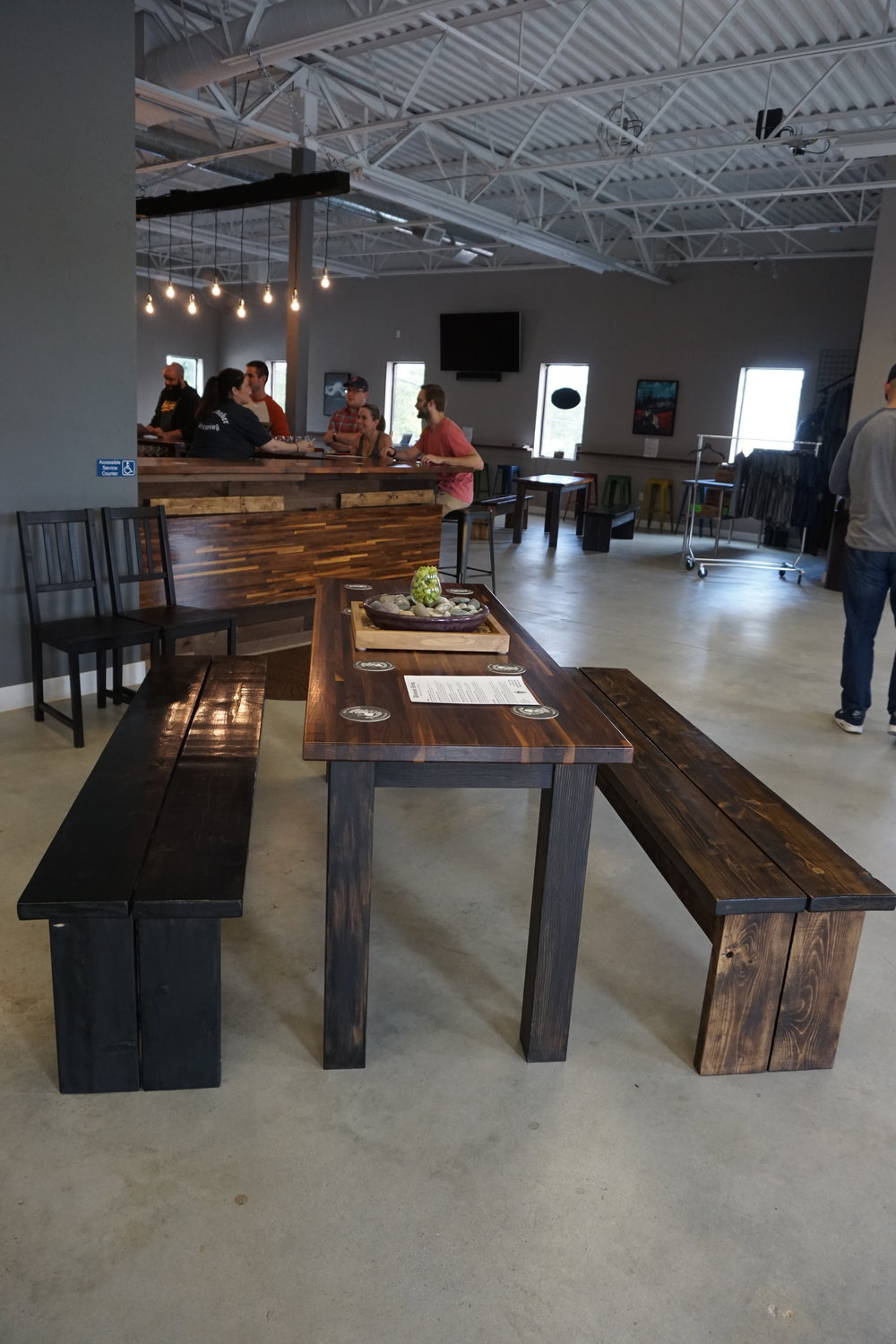 I love all the woodwork throughout the Taproom!