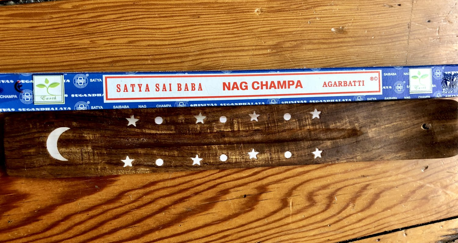 nag champa and incense holder queendom cultivation