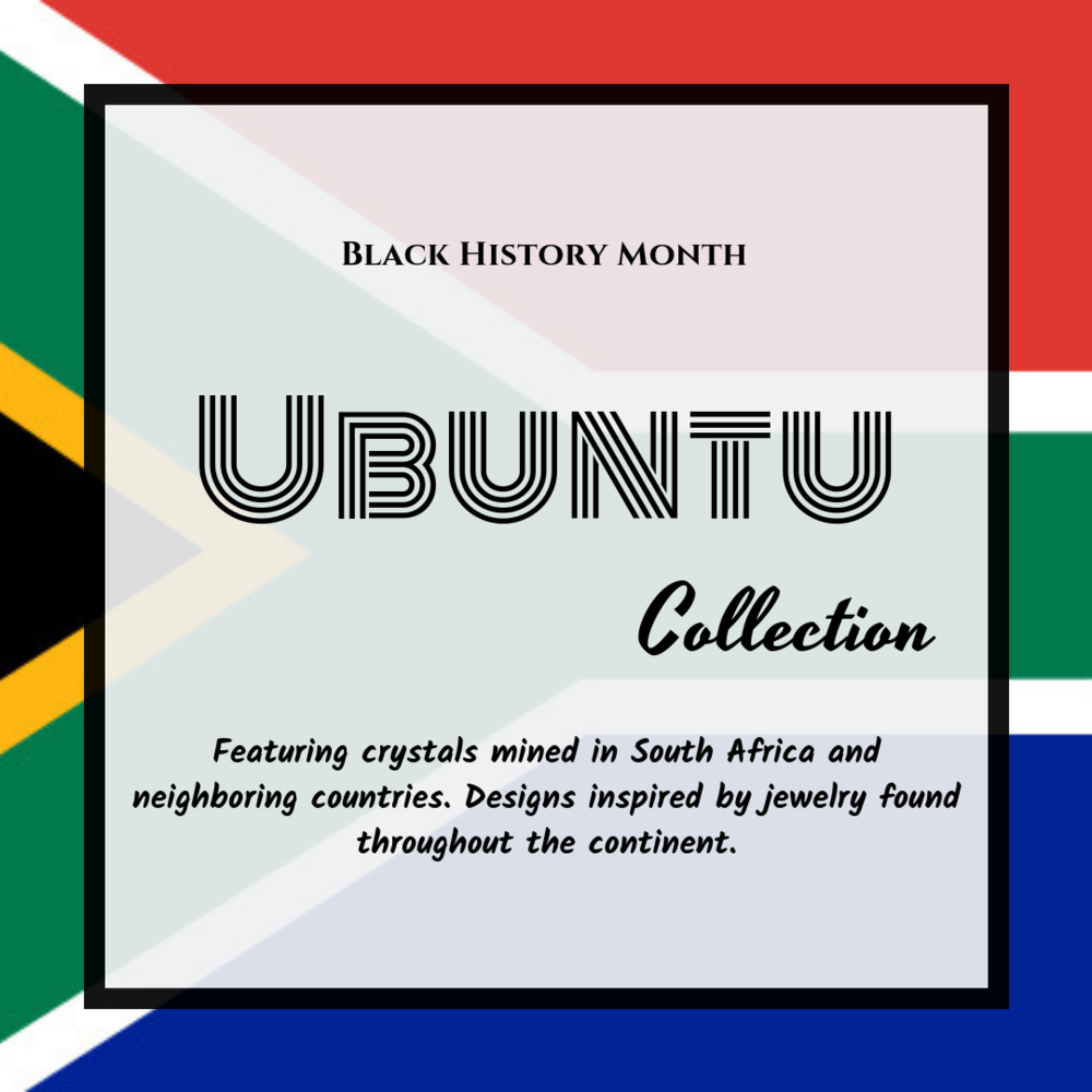 """- Ubuntu is the South African philosophy that states, I am who I am because of who we all are. """"My humanity is caught up, is inextricably bound up, in yours."""" -Archbishop Desmond Tutu 🇿🇦We are all connected. This collection is to serve as a reminder of that. Each of these crystals is extremely special.I pray you all will feel the energy of the Motherland. 🌍💕"""