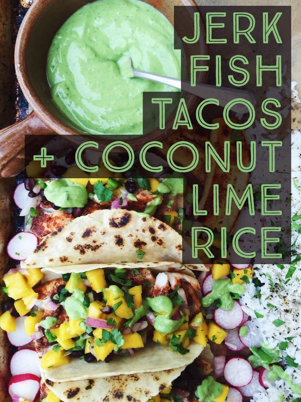 Coconut lime rice.