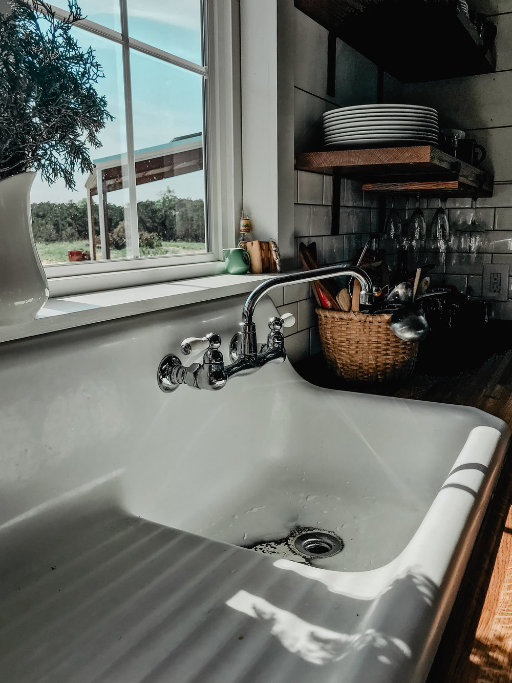 The barn house sink from Craigslist.