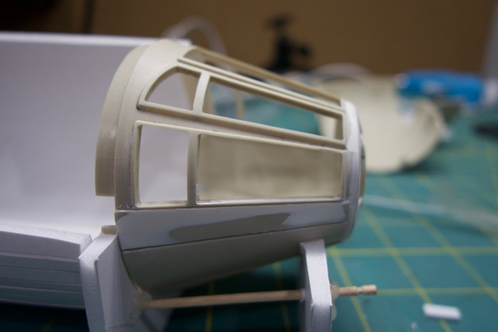 The lower windows are too wide by about 3.75mm. This also pushes the panel line too low.