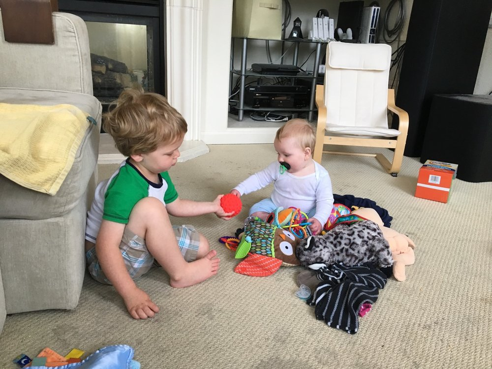 Two brothers actually playing together