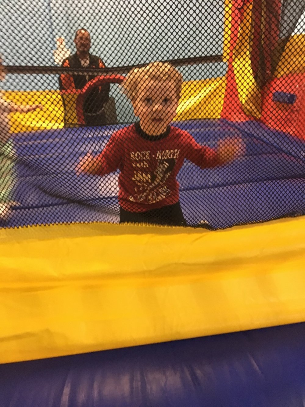 Loves the bounce house (February 2017)