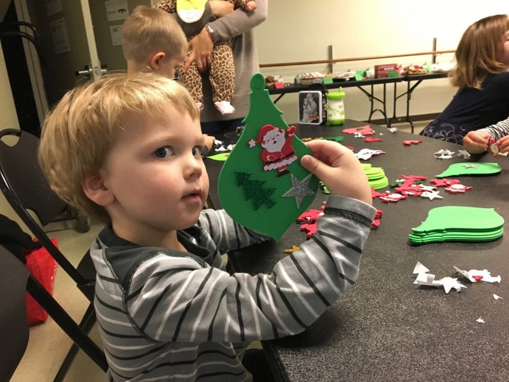 Ornament making at the Cookie Exchange (December 2016)