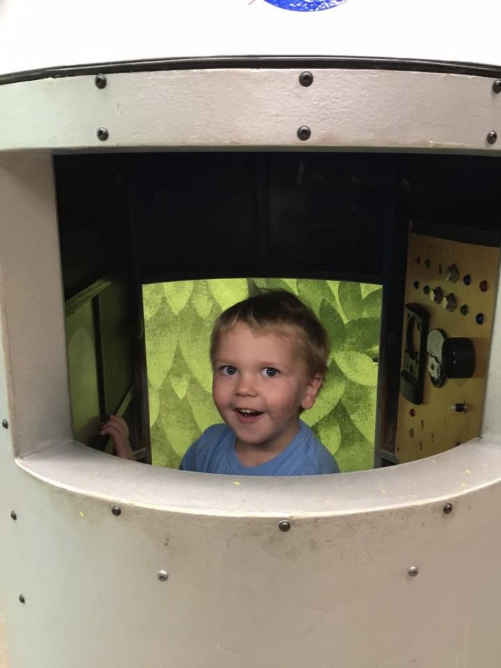 In a rocket ship! (November 2016)