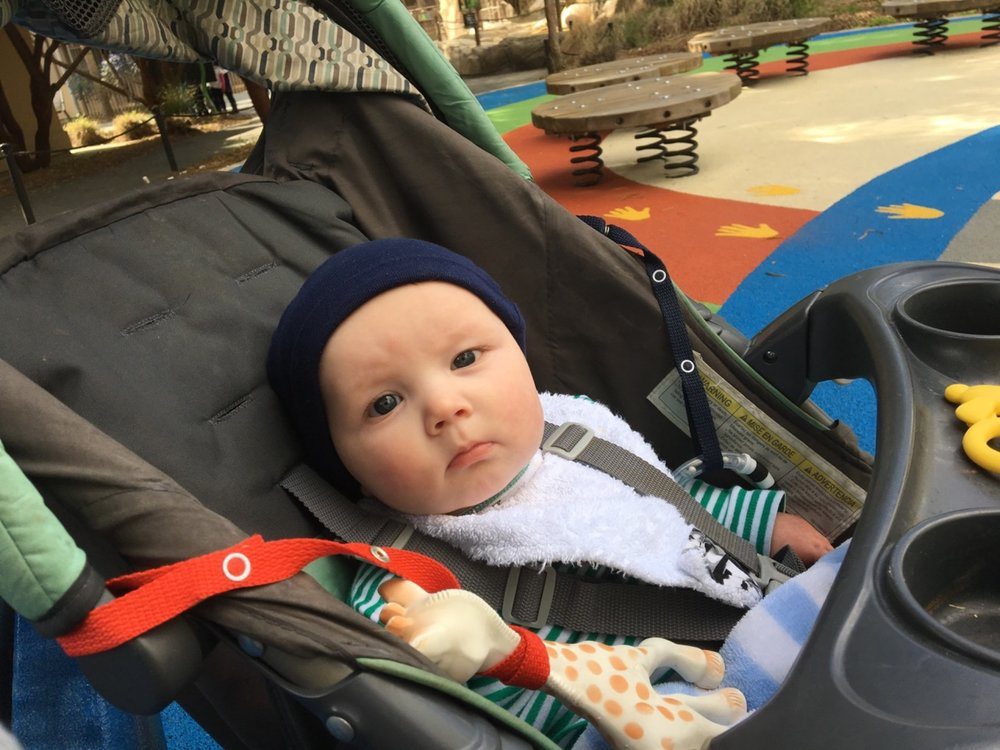 First time in the regular stroller