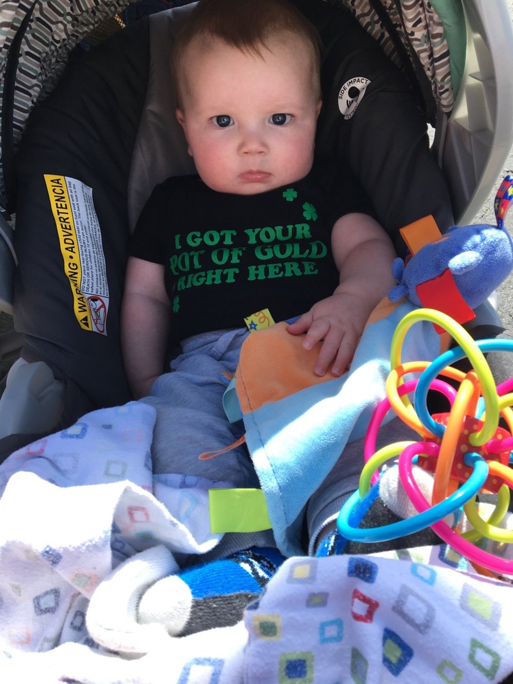 Mean mugging on Saint Patrick's Day