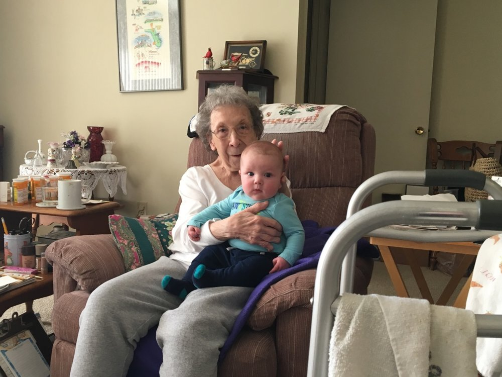 Hanging with Great Grandma