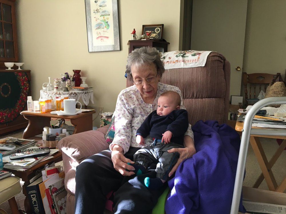 Visiting with great grandma