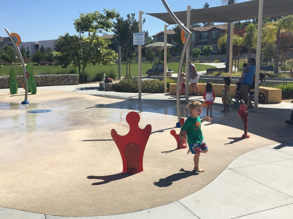 Splash pad fun (July)