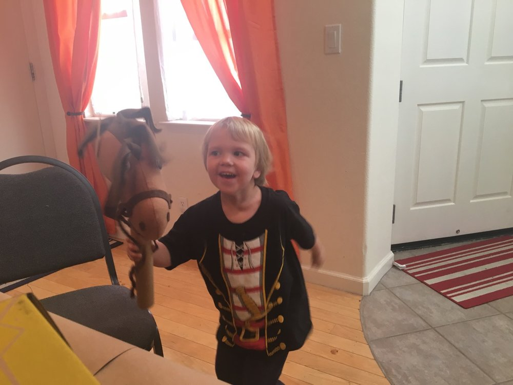 Birthday project -- making a horse (October)