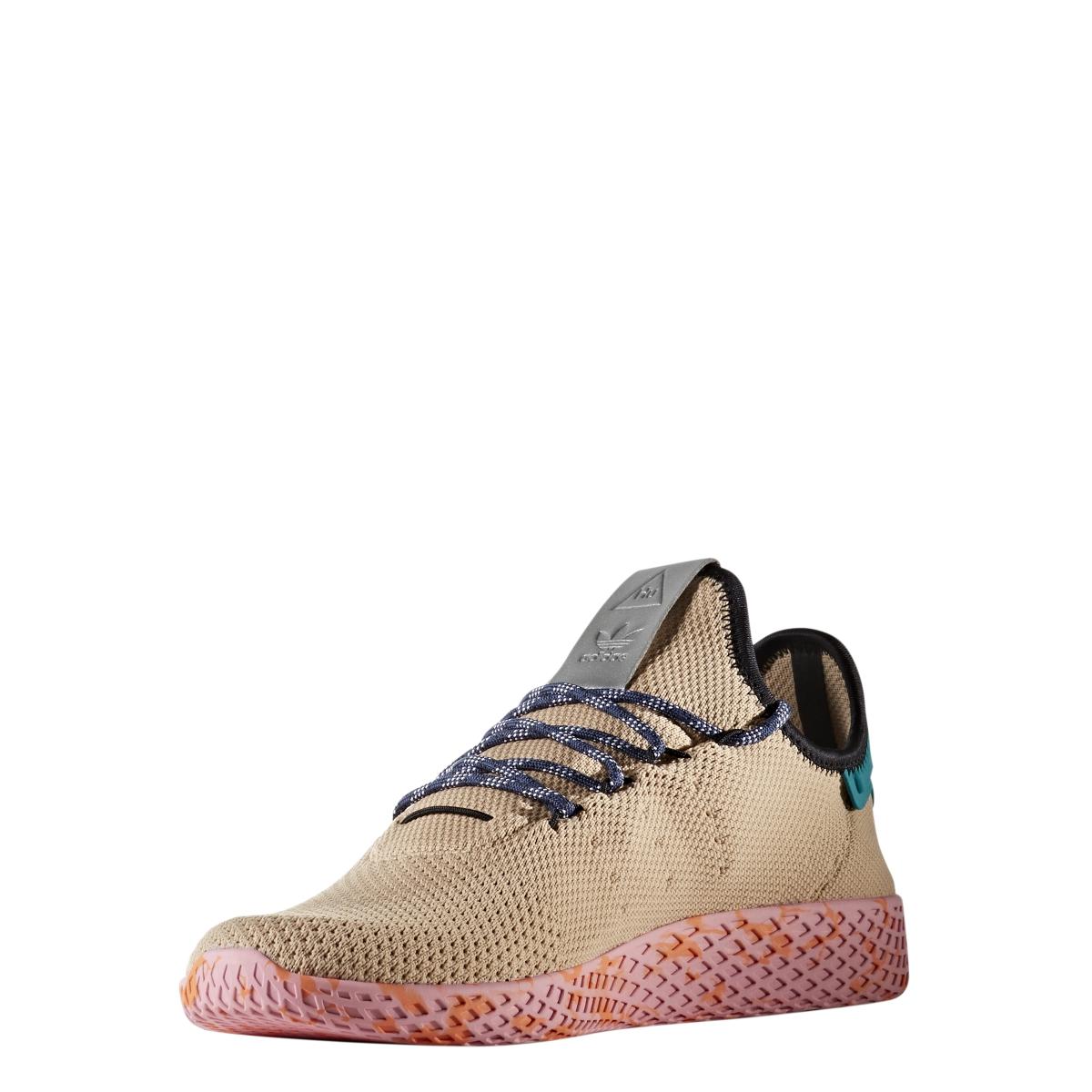 3ab9f93a544bd Adidas X Pharrell Williams Tennis Hu in Tan Teal Pink Marble. BY2672.jpg