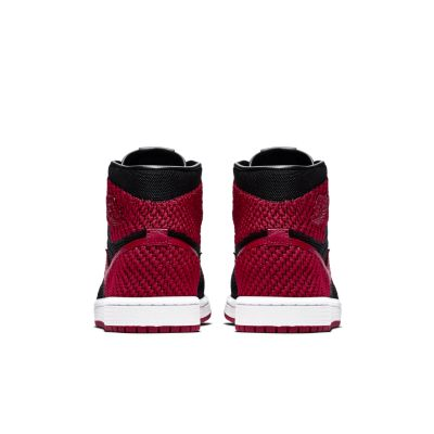 pick up 3530a 331c9 Air Jordan 1 Retro High Flyknit for Kids  in Black Varsity Red White