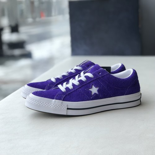 9831eb71c0f032 Converse One Star Premium Suede Low in Court Purple. IMG 8746.jpg