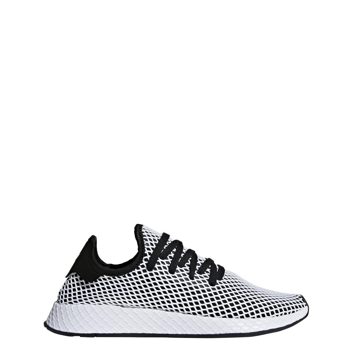 Adidas Deerupt in Black/White/Blue — MAJOR