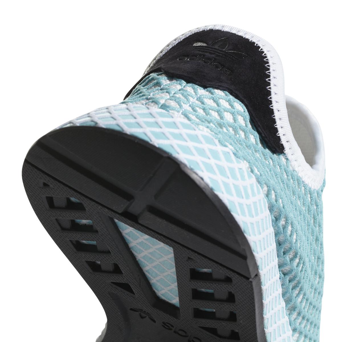 bc27446d3 Adidas Women s Deerupt Runner Parley in White Blue Spirit — MAJOR