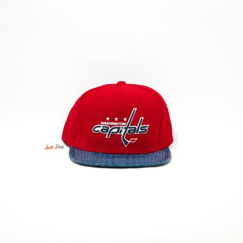 JustDon Washington Capitals Python Strapback in Red Navy — MAJOR d512ea434ae