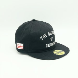 MAJOR x New Era The District Retro Unstructured Fitted 59Fifty in Black White  ... ab9ba987e325
