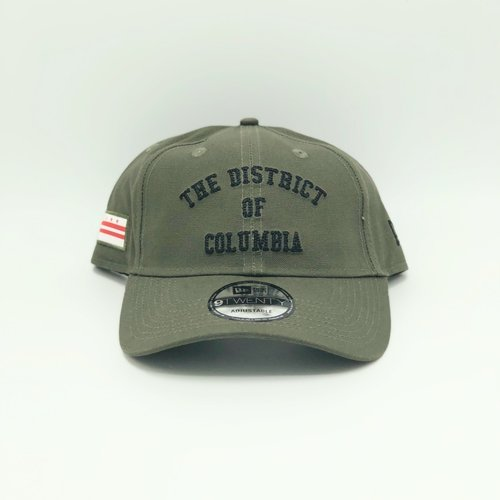 b1fa63f787e MAJOR x New Era The District of Columbia Dad Hat in Olive. TDOC OLV DAD.jpg