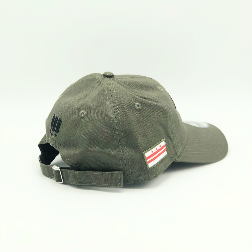 e99b80d0d62 MAJOR x New Era The District of Columbia Dad Hat in Olive — MAJOR