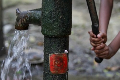 Bangladesh Red Tap Symbol Arsenic