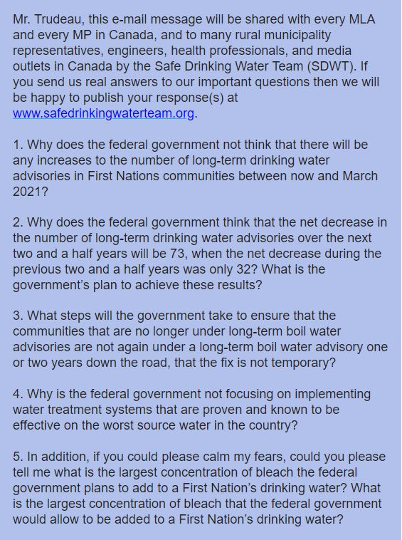 Questions to Trudeau