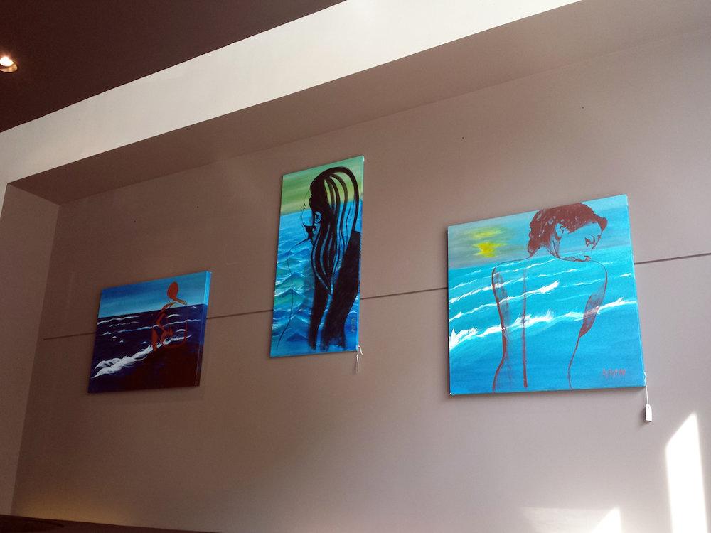 """""""My Ocean Within"""" Series - 3.5ft (106cm) x 2.5 ft (76cm) /4ft (122cm) x 2ft (60.96cm) /3ft (91.44cm) x 3ft (91.44cm)"""
