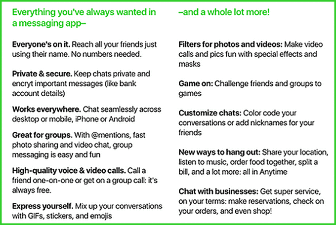 Amazon Anytime - Some of the rumored features of the upcoming messaging application