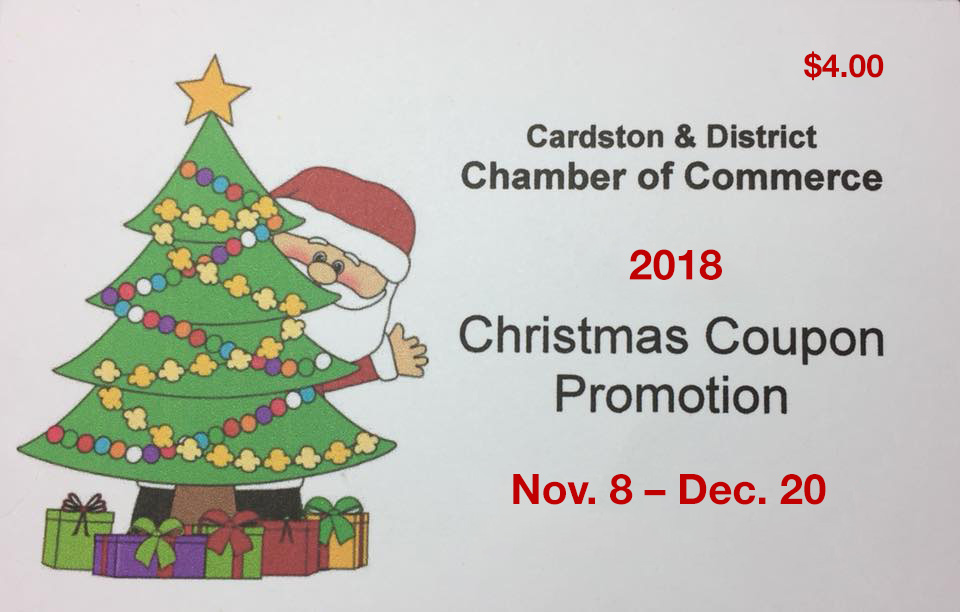 Christmas Coupon Promotion Member Price Cardston And District