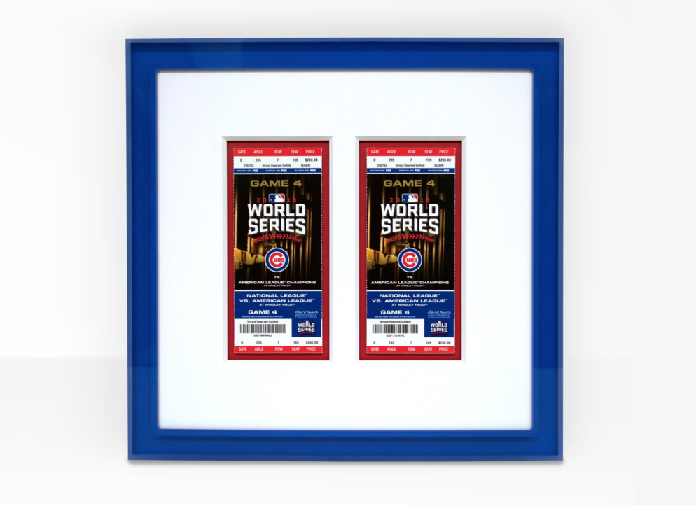 Framing Cubs Opening Day — Chicago Frame Shop | Artists Frame Service
