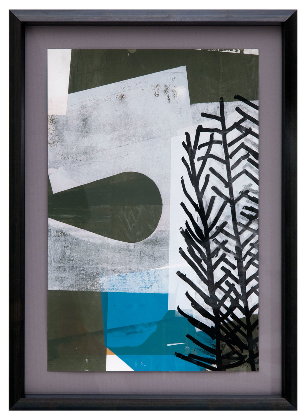 Barbara Raidl Abstract Mono-Print