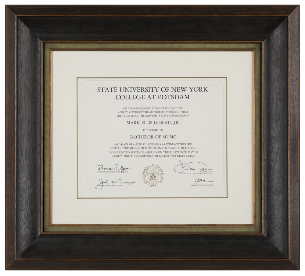 Chicago Diploma Framing | Quality Diploma Frames — Chicago Frame ...