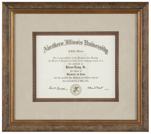 Chicago Diploma Framing | Quality Diploma Frames — Chicago Frame ...