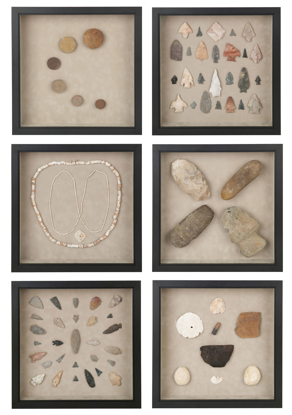 Stone and Arrowhead Shadow Boxes