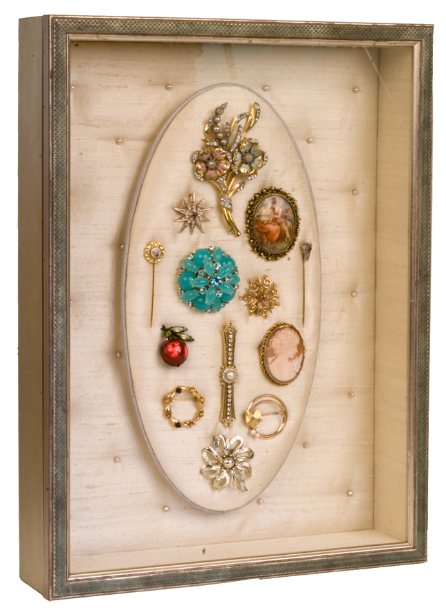 Broach and Pin Shadow Box