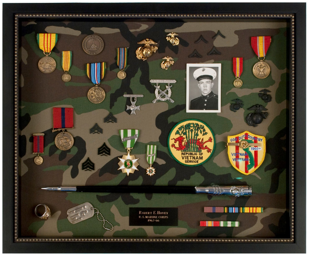 Military Memorabilia Shadow Box
