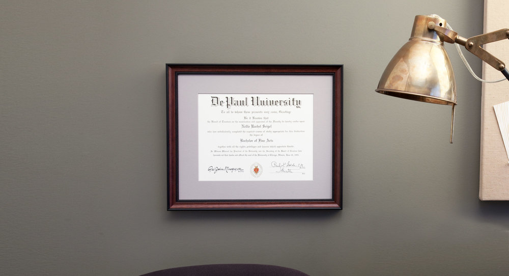 Tips For Diploma Framing — Chicago Frame Shop | Artists Frame Service