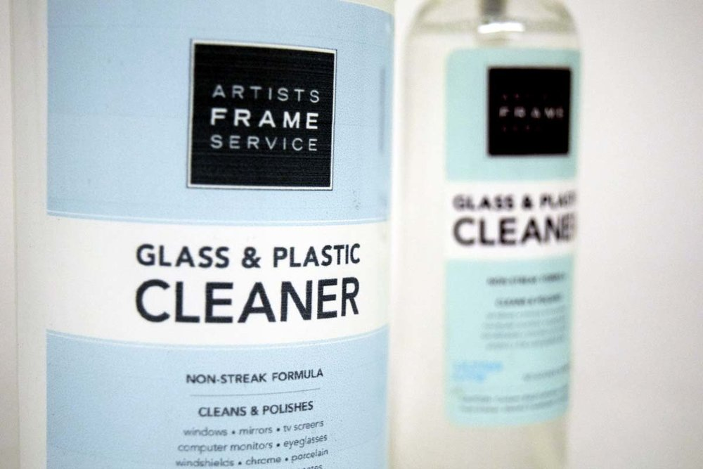 Non-streak ammonia-free cleaner is available for purchase in store. It works great on all glass, acrylic and mirrors.