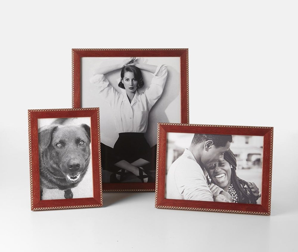 Our    Jax Red with Gold    photo frames come in the ideal holiday accent color, available in 4x6, 5x7 and 8x10 and made in Chicago.